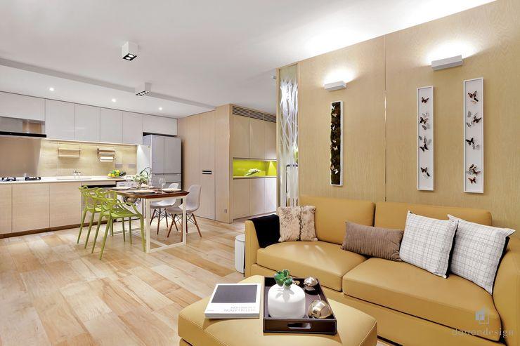 Living Room Darren Design & Associates 戴倫設計 Modern living room Wood Yellow