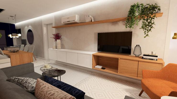 ZOMA Arquitetura Modern living room