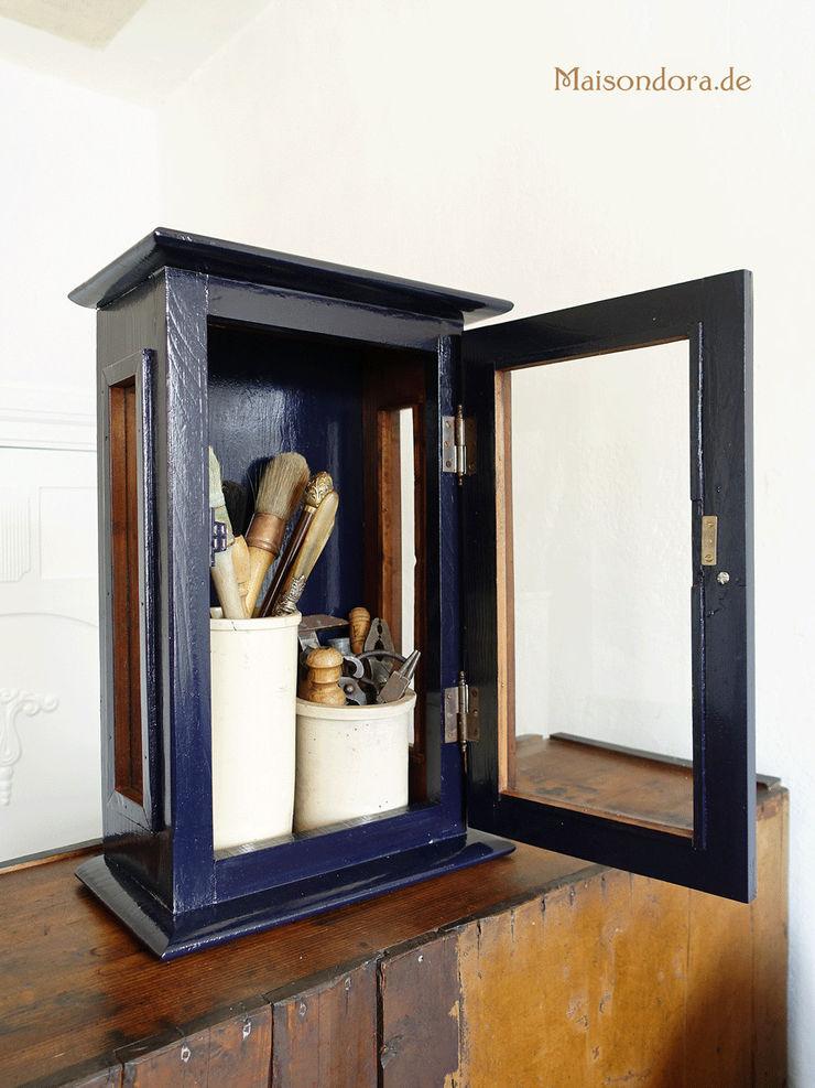 Maisondora Vintage Living BathroomMedicine cabinets Wood Blue