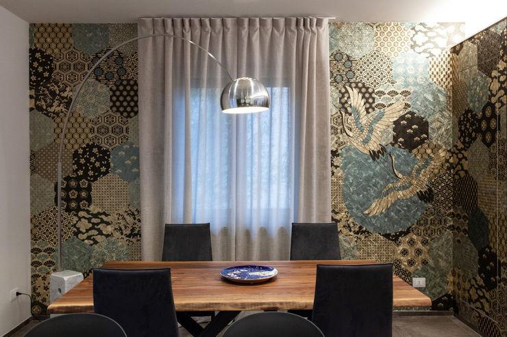 Studio d'Arc - Architetti Ruang Keluarga Gaya Eklektik Multicolored