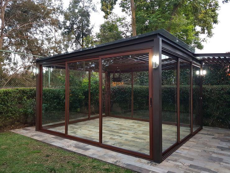 Merkalum Garden Shed Aluminium/Zinc Wood effect