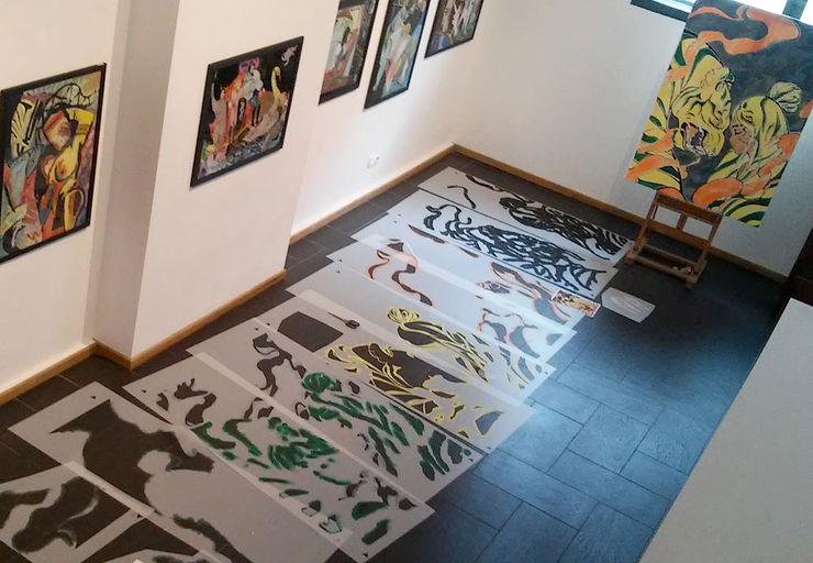 5-schlägig farbgetrennte Schablonen für DIY-Deko ab-design GmbH Asiatische Kinderzimmer