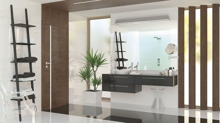 InPortas BathroomDecoration Wood Brown