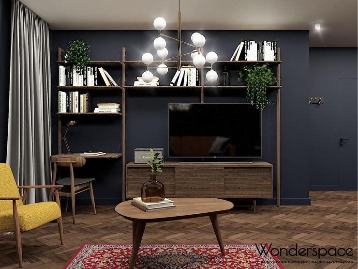 Wonderspace- studio projektowania wnętrz Wonderspace Eklektyczny salon