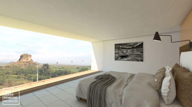Recamara principal ATELIERCENTRO Dormitorios minimalistas