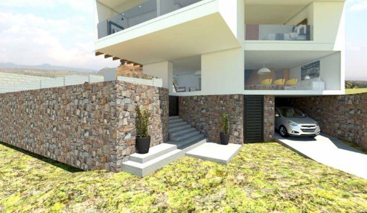 Acceso, Planta baja Construcción existente (piedra) ATELIERCENTRO Casas minimalistas