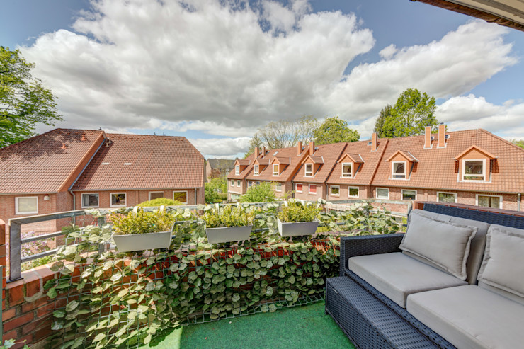 Airbnb bei Hamburg - Balkon finest art of living / Lydia Wegner interiordesign Balkon
