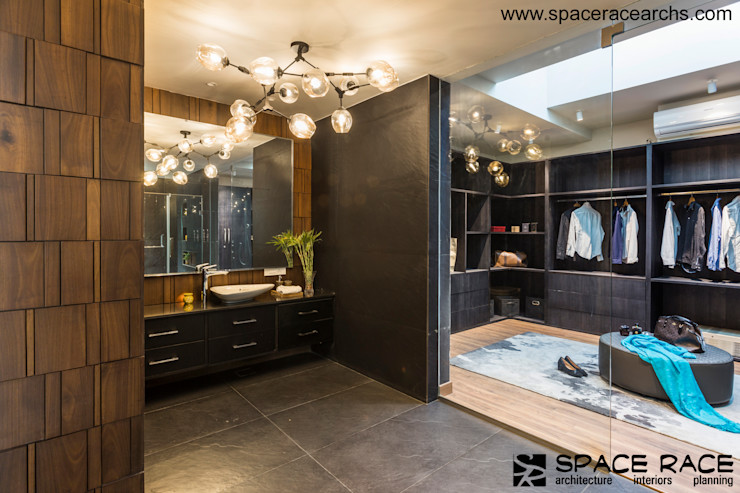 MASTER TOILET N WALK IN CLOSET SPACE RACE ARCHITECTS Minimalist dressing room
