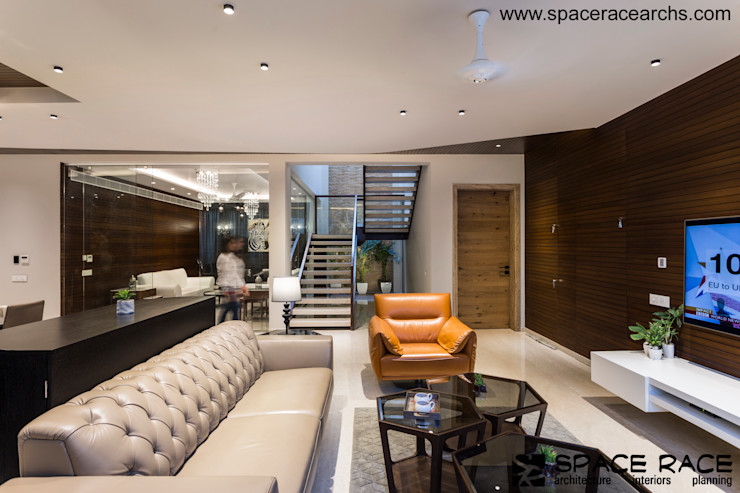 informal sitting SPACE RACE ARCHITECTS Minimalist living room