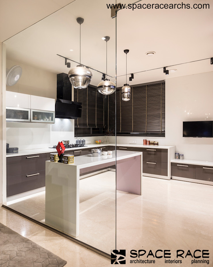 KITCHEN SPACE RACE ARCHITECTS Minimalist kitchen