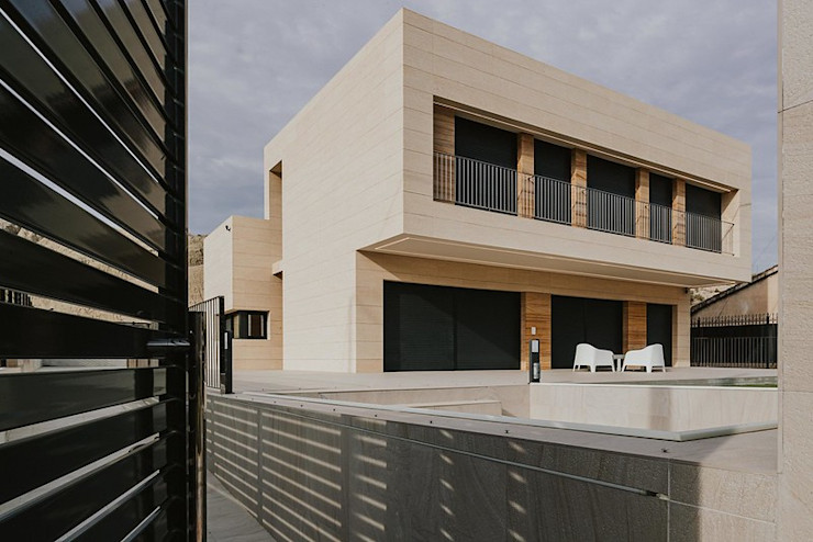 Rosal Stones Casas minimalistas Pedra Bege