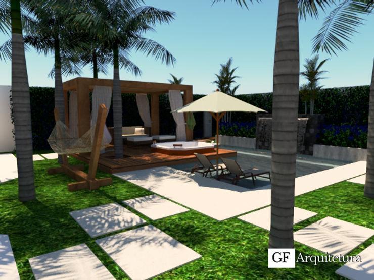 Perspectiva Quintal GF Arquitetura Piscinas modernas