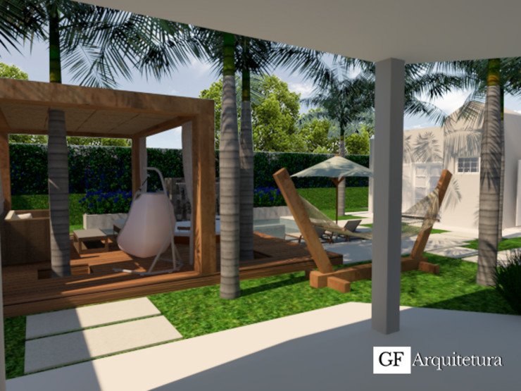 Perspectiva GF Arquitetura Jardins modernos