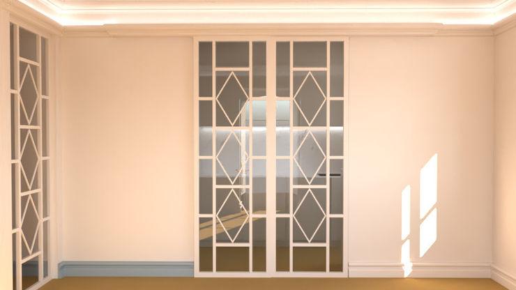 3D propuesta de cierre entre salón y cocina Ana Cabo