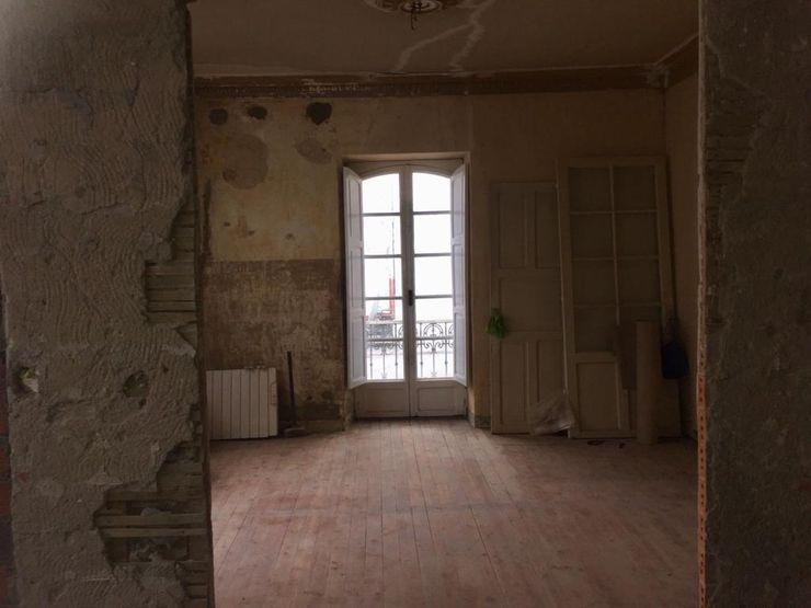 Apertura de hueco entre salón y cocina Ana Cabo
