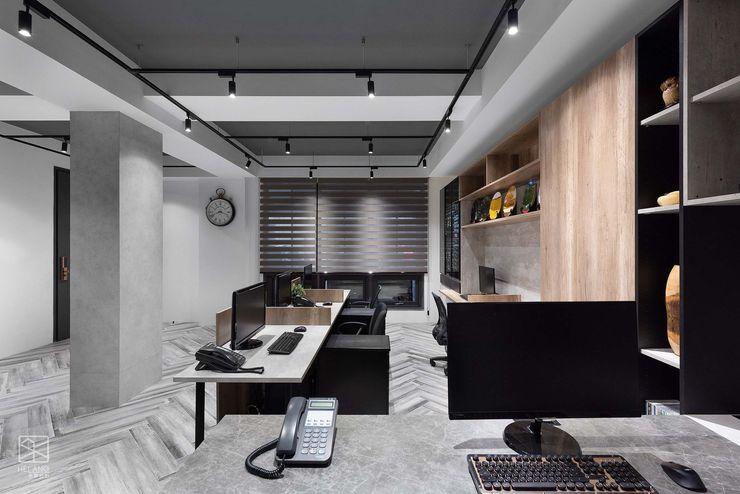 天花板跳色 禾廊室內設計 書房/辦公室