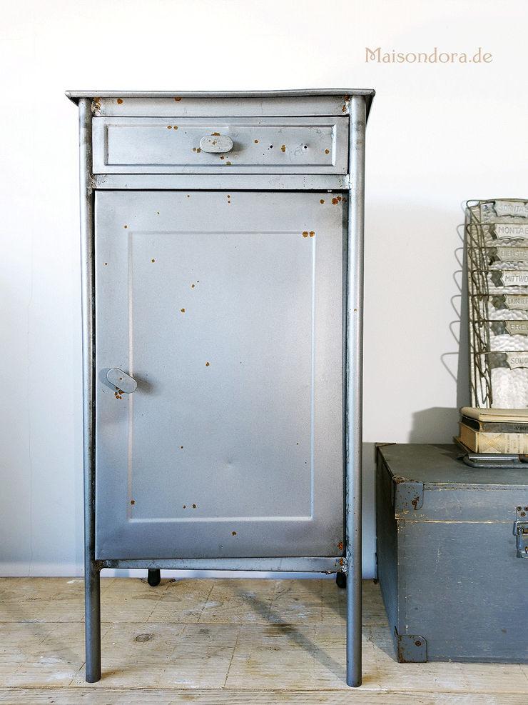 Maisondora Vintage Living Study/officeCupboards & shelving Iron/Steel Metallic/Silver