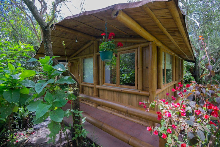 CONSTRUIMOS CABAÑAS GUTIERETZ Country house Bamboo Wood effect