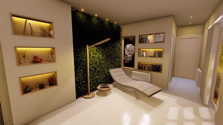 Lugar de lectura y relax Aida tropeano& Asociados Salones modernos Contrachapado Beige