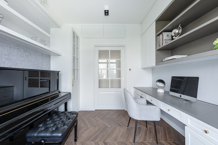 A Vintage Lifestyle—Villa Rocha, Hong Kong Grande Interior Design Mediterranean style study/office