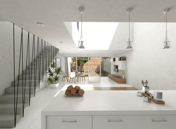 GRUPO ARQUEDA Modern Living Room