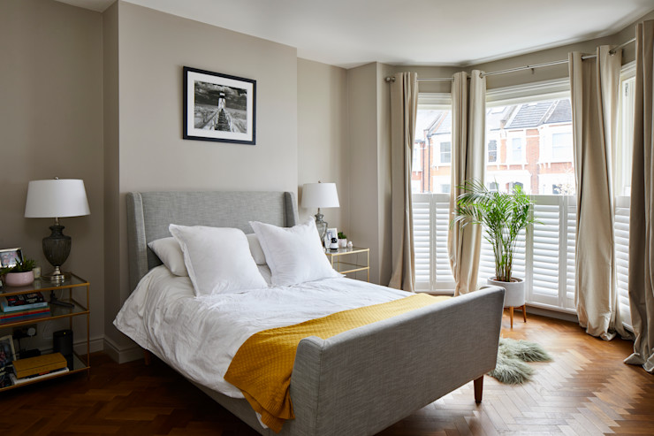 Rear and side extension, house renovation - West Hampstead, London NW6 Proficiency Modern style bedroom