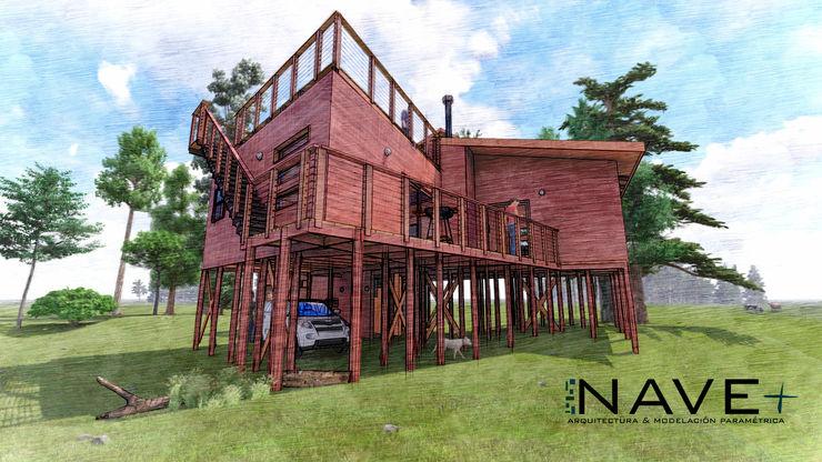 Cabaña Chanquín, Licanray, Comuna de Villarrica Nave + Arquitectura & Modelación Paramétrica