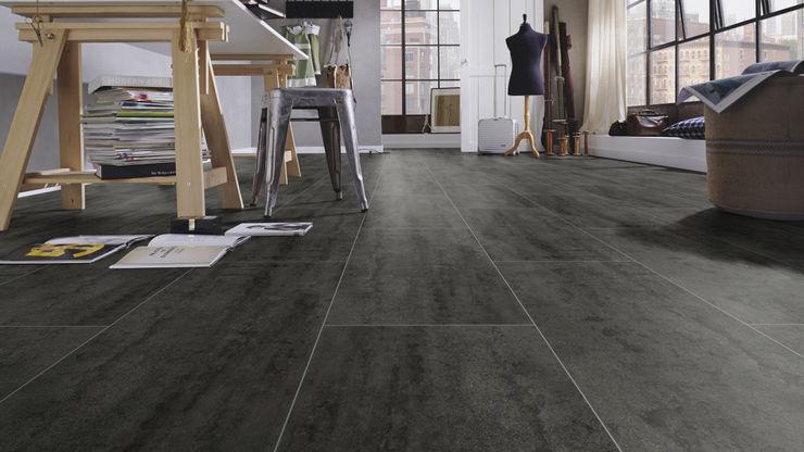Floorwell ANDRIA Laminat – ECO Design Floorwell Moderne Arbeitszimmer Holzwerkstoff Schwarz