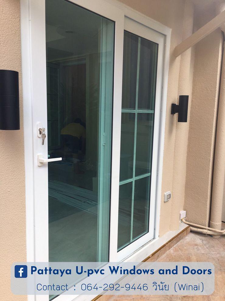 โรงงาน พัทยา กระจก ยูพีวีซี Pattaya UPVC Windows & Doors Розсувні двері Пластик Білий