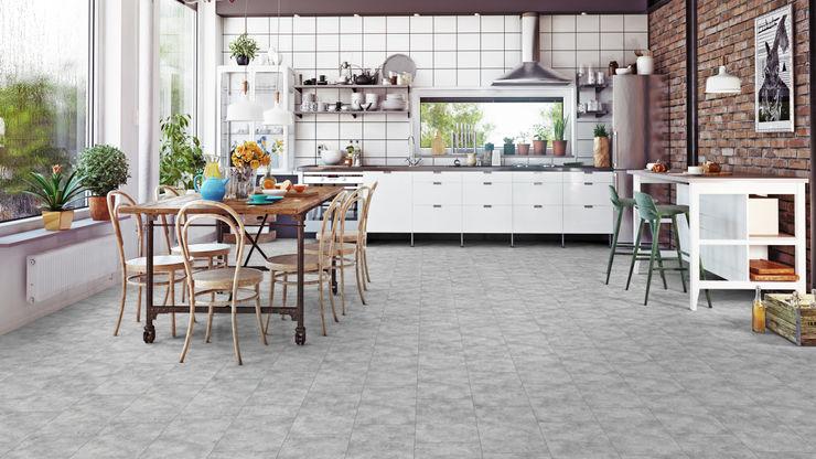 Floorwell AUDREY Laminat – PLUS Design Floorwell Moderne Küchen Holzwerkstoff Grau