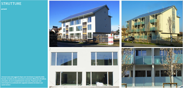 Strutture terrazzi C.M.E. srl Balcone, Veranda & Terrazza in stile moderno