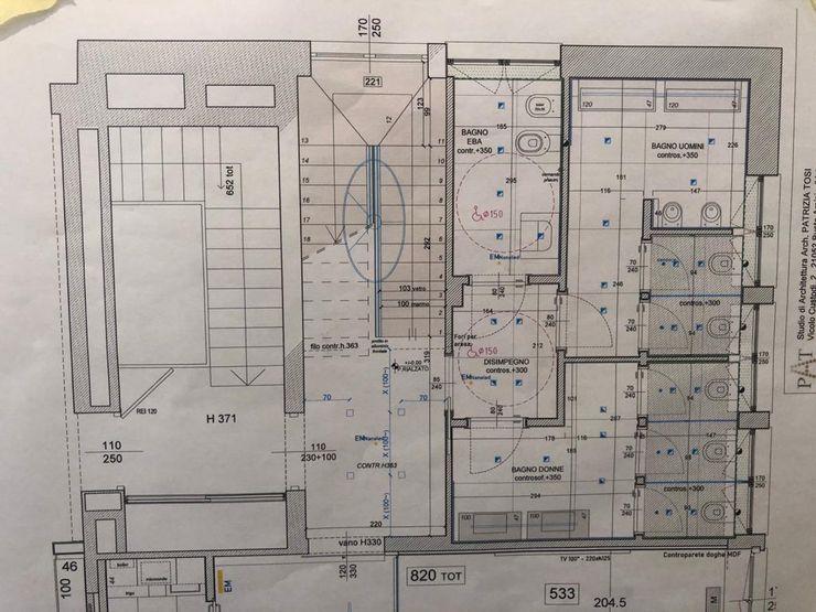 Planimetria progetto bagni C.M.E. srl