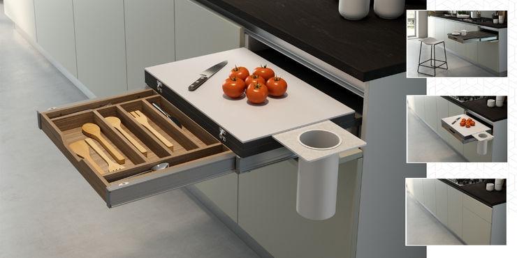 COOK Atim Spa CucinaPiani di lavoro Alluminio / Zinco