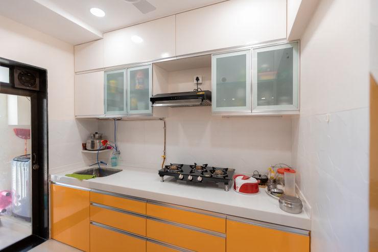 The Golden Touch The 7th Corner Interior Small kitchens Quartz Orange