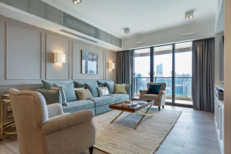 Sense of Romance - Wylie Court, Hong Kong Grande Interior Design Classic style living room