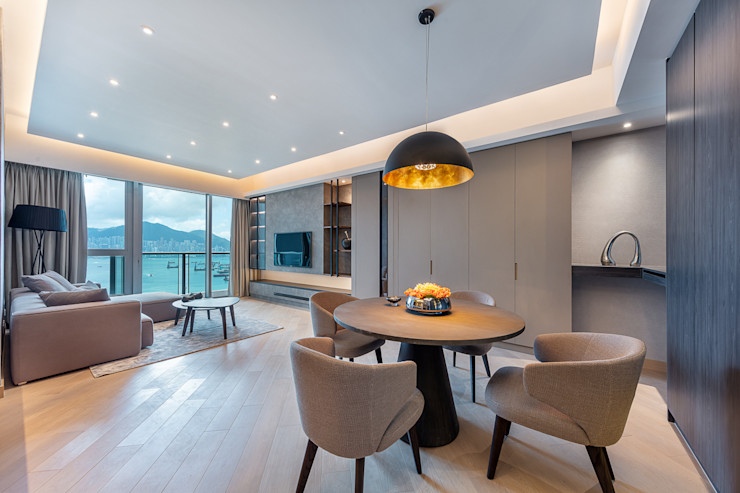 A Boutique Living Area for a Family of Four—Cullinan West, Hong Kong Grande Interior Design Modern dining room