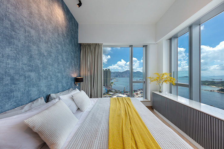 A Boutique Living Area for a Family of Four—Cullinan West, Hong Kong Grande Interior Design Modern style bedroom