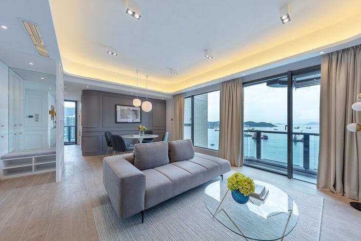 Celeste and the Sea—Alto Residences, Hong Kong Grande Interior Design Classic style living room