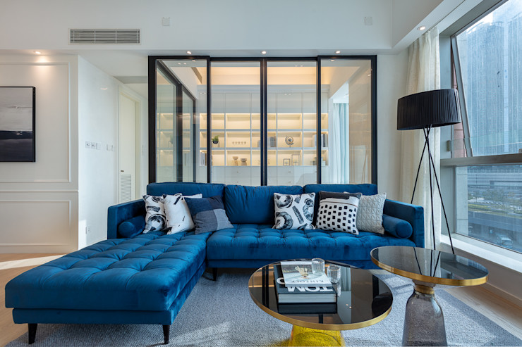 Multi-functional Living Area, a Private Dancing Studio—The Coronation, Hong Kong Grande Interior Design Modern living room