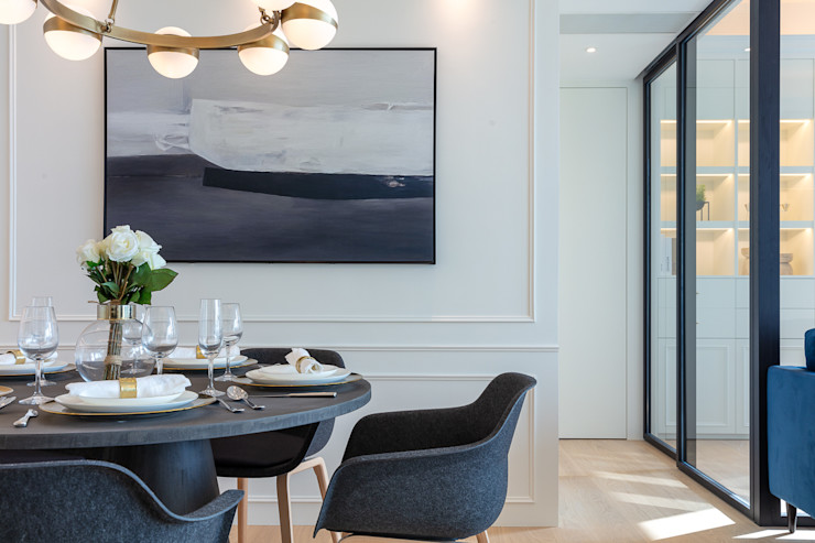Multi-functional Living Area, a Private Dancing Studio—The Coronation, Hong Kong Grande Interior Design Modern dining room