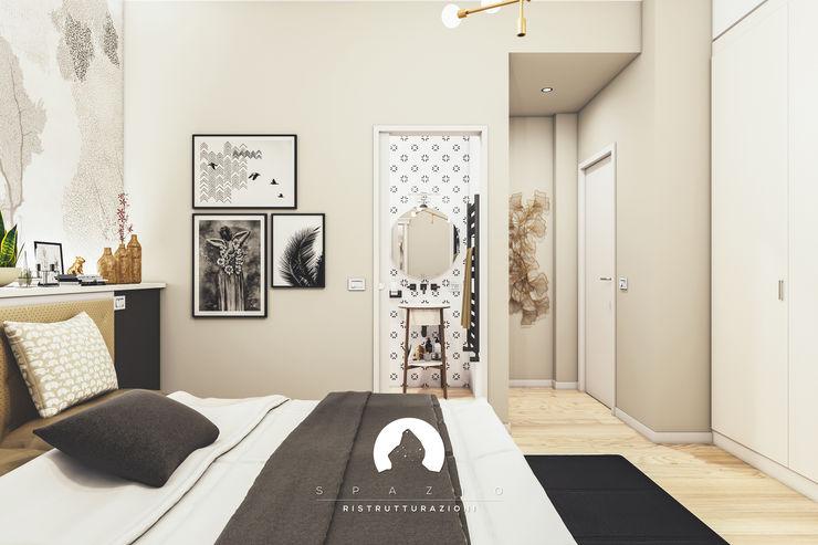 Spazio - Ristrutturazioni Modern style bedroom Grey