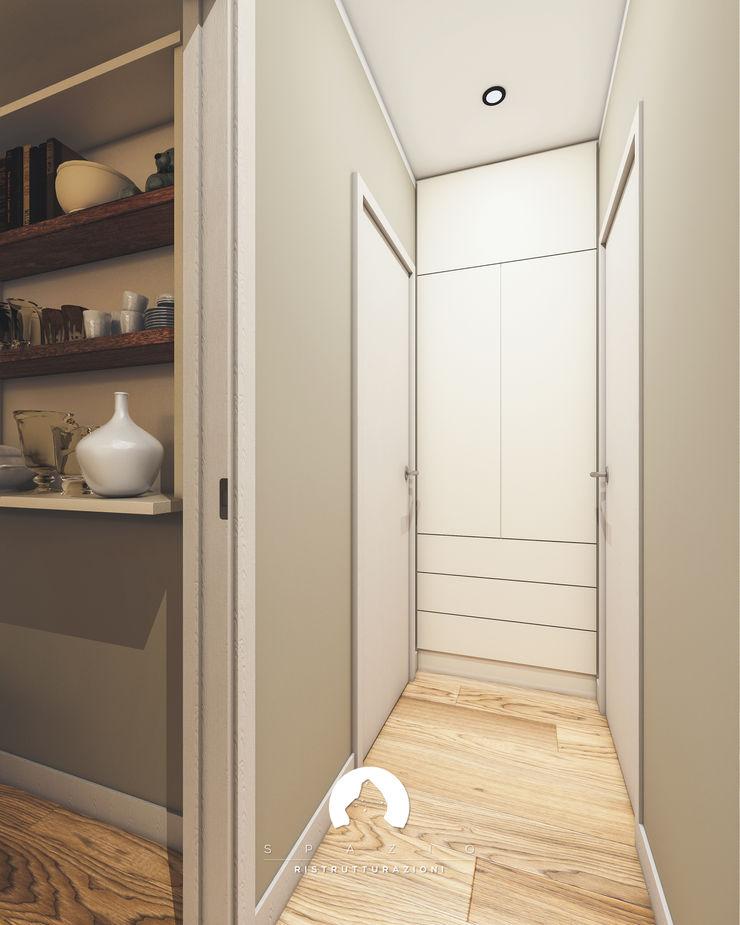 Spazio - Ristrutturazioni Modern corridor, hallway & stairs Grey