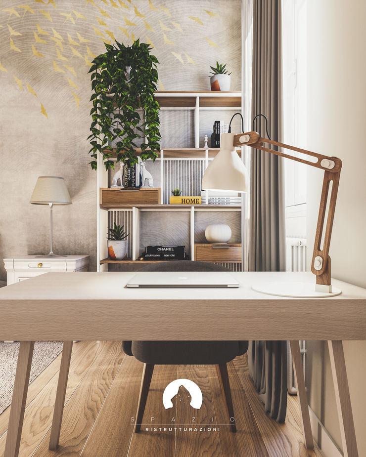 Spazio - Ristrutturazioni Modern study/office Beige