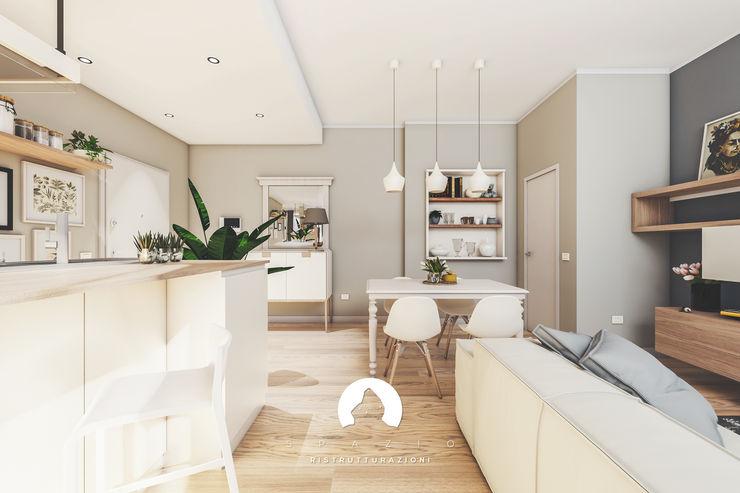 Spazio - Ristrutturazioni Modern living room Beige