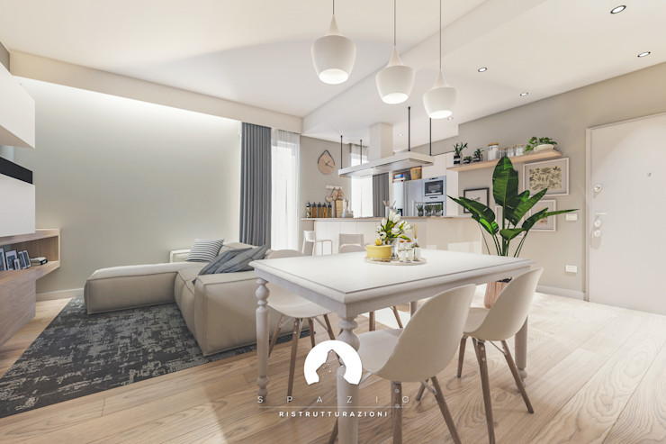 Spazio - Ristrutturazioni Modern dining room Grey