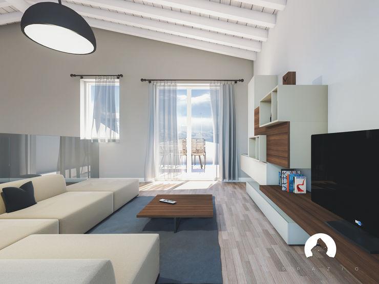 Spazio - Ristrutturazioni Modern living room Grey