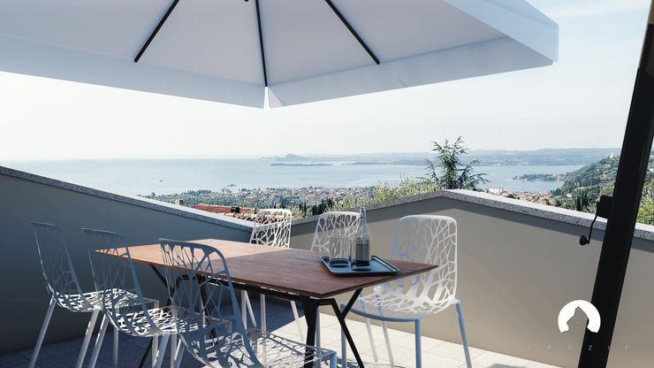 Spazio - Ristrutturazioni Modern balcony, veranda & terrace