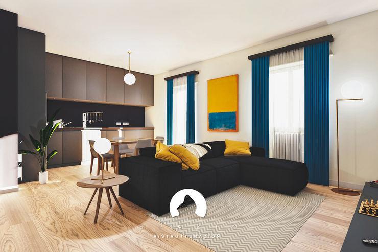 Spazio - Ristrutturazioni Minimalist living room
