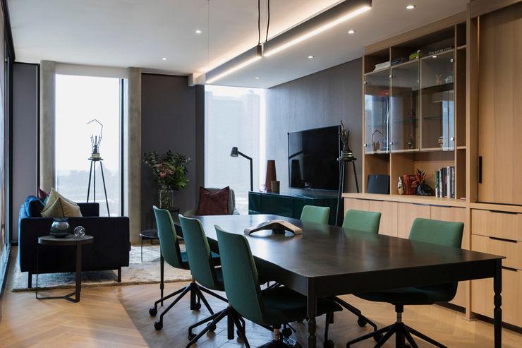 Dining Room interior design workroom. Modern dining room