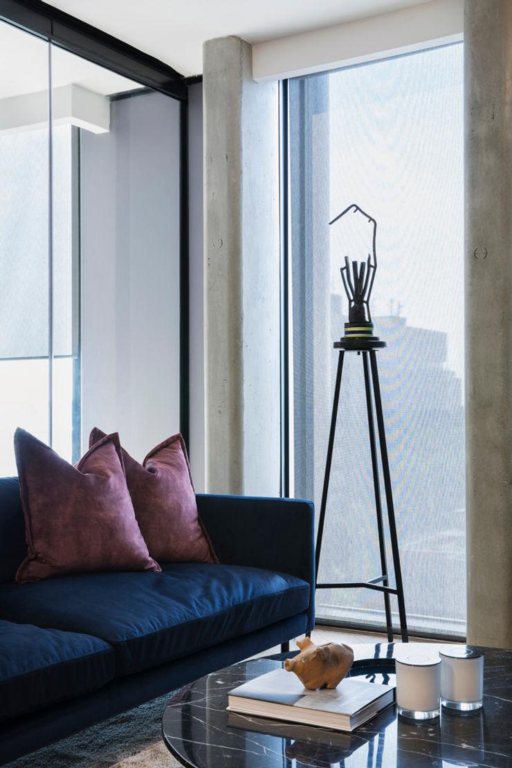 Art Selection interior design workroom. Modern living room